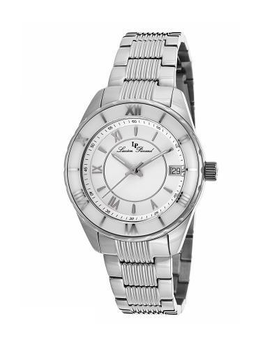 【优雅必购】Lucien Piccard 卢森皮卡尔Saraille系列不锈钢圆形银色石英机芯女士手表