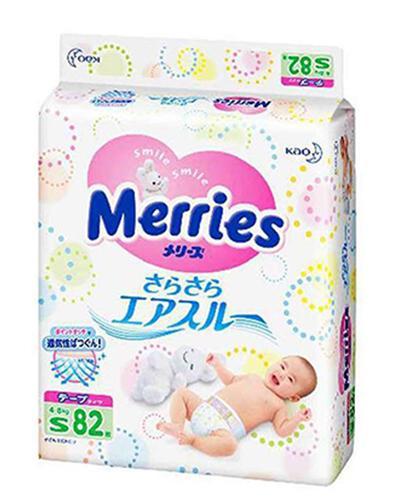 【清爽透气】日本 Merries 花王 纸尿裤 小号S 82片