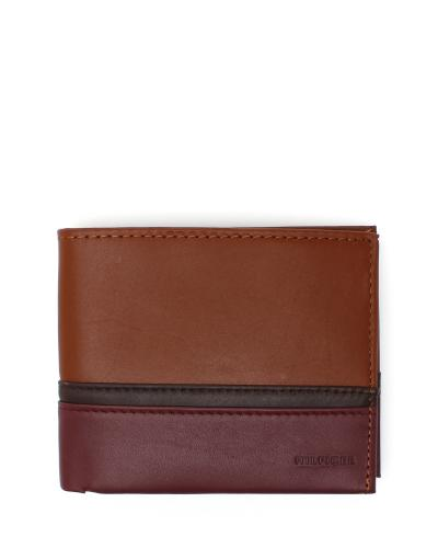 【男神必购】美国 Tommy Hilfiger 汤米·希尔费格男款短款系列棕色皮质折叠钱包