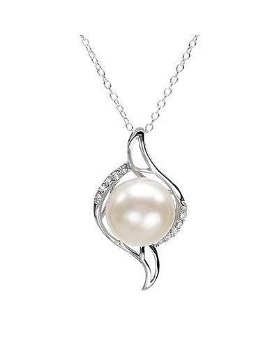 Celine Fang 赛琳.方 时尚女士贝母珍珠项链(赠镀白金18寸链)