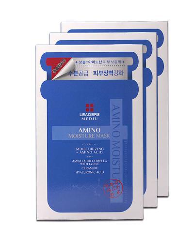 【水美人】韩国 Leaders 丽得姿 美蒂优氨基酸深层补水面膜 10片装 3盒装