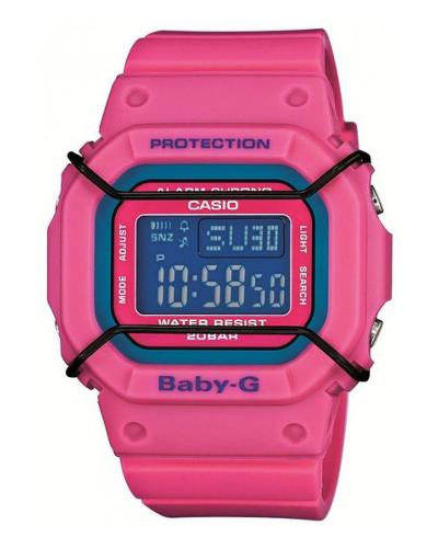 日本 Casio 卡西欧Baby-G系列 桃红色方形运动女士手表