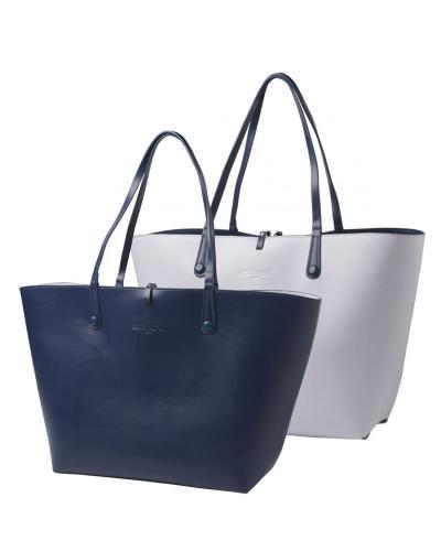 【一包多用】法国 Cacharel 卡夏尔紫丁香-蓝色女士可翻转购物袋 CNCTS514