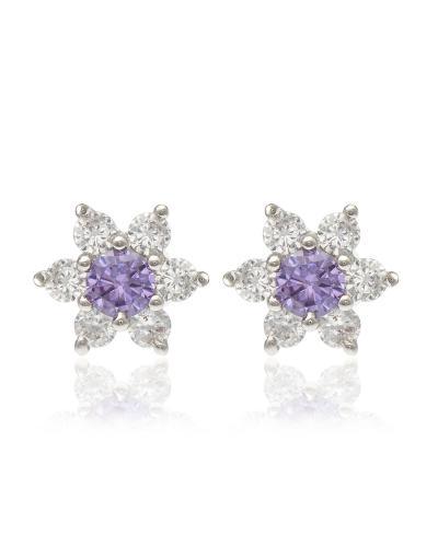 【来自星星的耳饰】独家定制Yanna Jewellery 可爱星星款紫色施华洛世奇水晶女士耳钉8.6mm