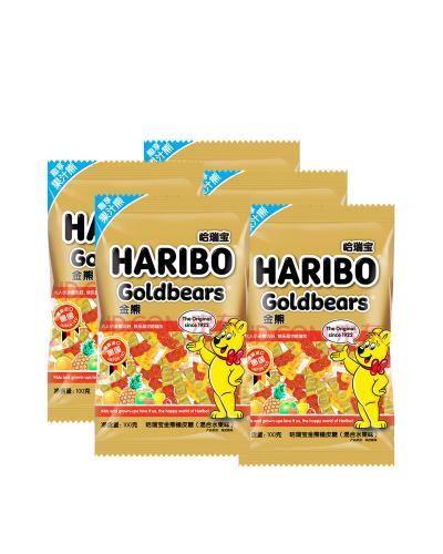 德国 HaRiBo 哈瑞宝 金熊杂果橡皮糖100g 5包组合