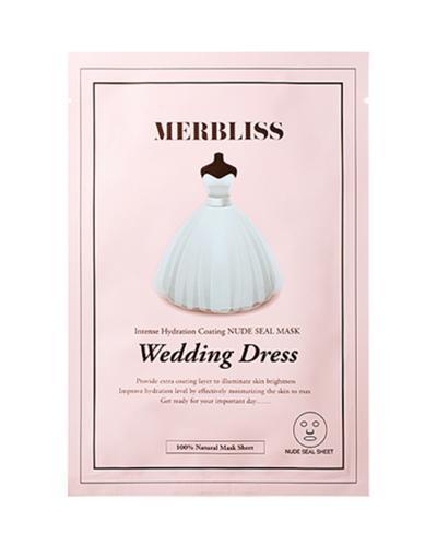 韩国原装进口 Merbliss 茉贝丽思 婚纱无形印高保湿光彩补水面膜 5片装