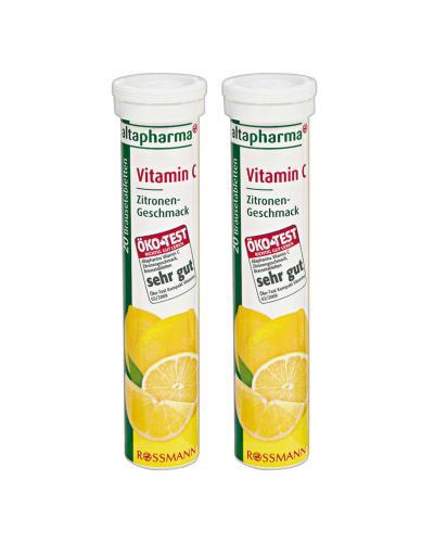 德国altapharma VC泡腾片 柠檬味 VC 20片 2瓶装